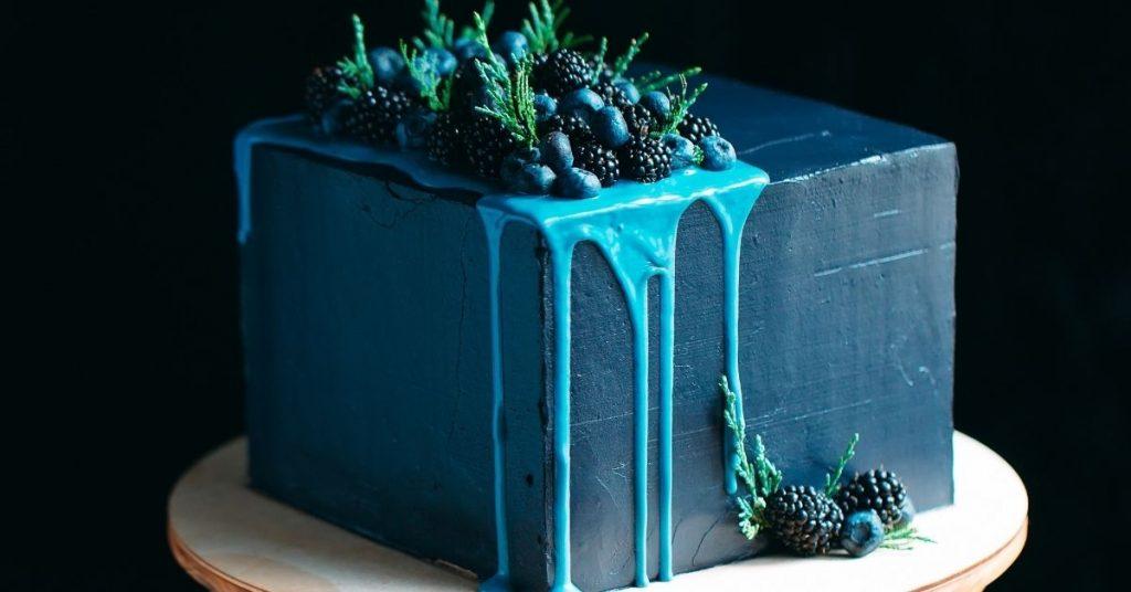 How to Make Navy Blue Chocolate ganache