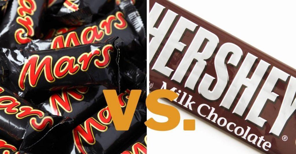 Mars Chocolate Vs Hershey