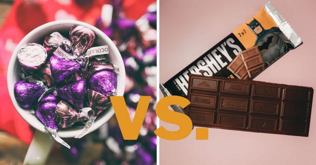 hershey kisses vs hershey bars