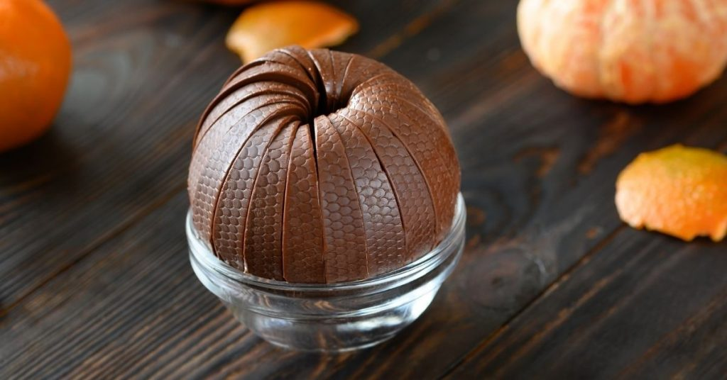 how are chocolate oranges made